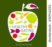 concept of healthy eating ... | Shutterstock .eps vector #650916352
