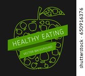 concept of healthy eating ... | Shutterstock .eps vector #650916376