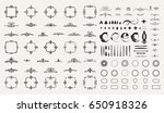 circle and square wicker... | Shutterstock . vector #650918326