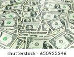 a pile of one dollar bills as... | Shutterstock . vector #650922346