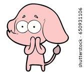cartoon unsure elephant   Shutterstock .eps vector #650931106