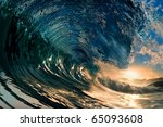 Breaking Ocean Wave Falling...