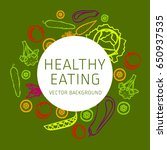 concept of healthy eating ... | Shutterstock .eps vector #650937535