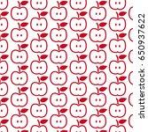 pattern background apple icon   Shutterstock .eps vector #650937622