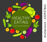 concept of healthy eating ... | Shutterstock .eps vector #650937862