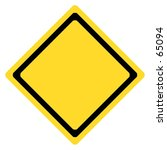 blank yellow black traffic sign.... | Shutterstock . vector #65094