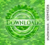 download realistic green emblem....