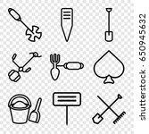 Spade Icons Set. Set Of 9 Spad...