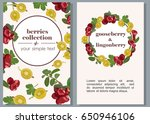 vector banners with fruits of... | Shutterstock .eps vector #650946106