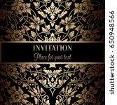floral invitation card or... | Shutterstock .eps vector #650948566