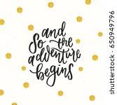 trendy hand lettering poster.... | Shutterstock .eps vector #650949796