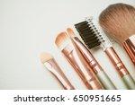 makeup tools  accessories and... | Shutterstock . vector #650951665