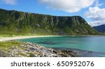 the uttakleiv beach in the... | Shutterstock . vector #650952076