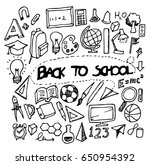 back to school doodle sketch... | Shutterstock .eps vector #650954392