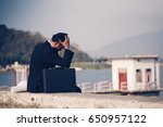 back view of tired or stressed... | Shutterstock . vector #650957122