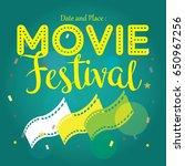 movie poster event for festival ... | Shutterstock .eps vector #650967256