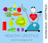 concept of a healthy lifestyle  ... | Shutterstock .eps vector #650979622