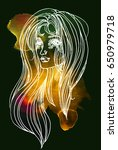 watercolor graphic illustration ... | Shutterstock . vector #650979718