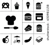 snack icon. set of 13 filled... | Shutterstock .eps vector #650981158
