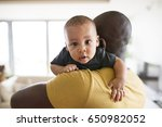 young afro american father... | Shutterstock . vector #650982052