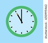 Clock Icon. 11 O'clock Vector...