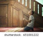 ramadan kareem the muslim prays ... | Shutterstock . vector #651001222