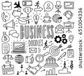hand drawn business doodles | Shutterstock .eps vector #651004336
