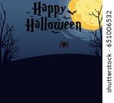 halloween vector design with... | Shutterstock .eps vector #651006532