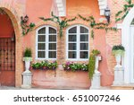 stone windows and windows ... | Shutterstock . vector #651007246