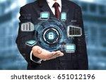 internet concept of wireless... | Shutterstock . vector #651012196