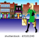 vector illustration of a blond... | Shutterstock .eps vector #65101240