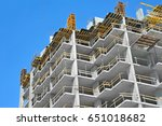 building construction site work ...   Shutterstock . vector #651018682