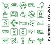 public icons set. set of 25... | Shutterstock .eps vector #651018862