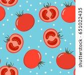 tomato pattern | Shutterstock .eps vector #651022435