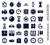 clock icons set. set of 36... | Shutterstock .eps vector #651023038