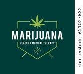 vintage marijuana label design  ... | Shutterstock .eps vector #651027832