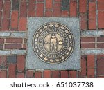 one of the markers of the... | Shutterstock . vector #651037738