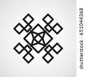 ornamental black logo template... | Shutterstock .eps vector #651044368