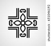 ornamental black logo template... | Shutterstock .eps vector #651046192
