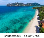 top view from drone of tropical ... | Shutterstock . vector #651049756