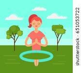 vector illustration. meditation ... | Shutterstock .eps vector #651053722