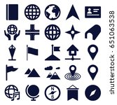 map icons set. set of 25 map... | Shutterstock .eps vector #651063538