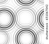 seamless monochrome circles... | Shutterstock .eps vector #651067042