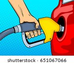 gasoline filling comic book pop ... | Shutterstock .eps vector #651067066