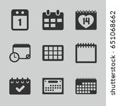 appointment icons set. set of 9 ... | Shutterstock .eps vector #651068662