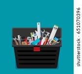 workspace carpenter tools... | Shutterstock .eps vector #651070396