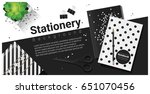 creative scene with black and... | Shutterstock .eps vector #651070456