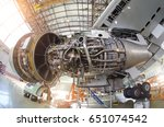engine aircraft without a hood  ... | Shutterstock . vector #651074542