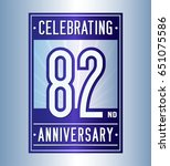82 years anniversary design... | Shutterstock .eps vector #651075586