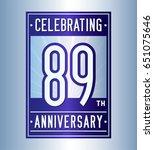 89 years anniversary design... | Shutterstock .eps vector #651075646